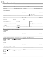 "Form LHL234 ""Texas Standardized Credentialing Application"" - Texas"