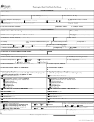 "Form DOH422-023 ""Washington State Fetal Death Certificate"" - Washington"