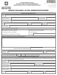 """Request for Agency Action, Administrative Review"" - Utah"