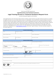 """Form TJJD-CER-155 """"Legal Training Services or Technical Assistance Request Form"""" - Texas"""