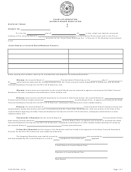 """Form TJJD-FIS-205 """"State Financial Assistance Chair Authorization"""" - Texas"""