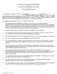 """State-Local Assistance Agreement for Hazard Mitigation Grant Program or Pre-disaster Mitigation"" - South Dakota"