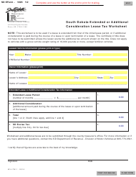 "SD Form 1995 (MV-LTW-1) ""South Dakota Extended or Additional Consideration Lease Tax Worksheet"" - South Dakota"