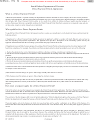 "Form RV-140 (SD Form 1774) ""Direct Payment Permit Application"" - South Dakota"