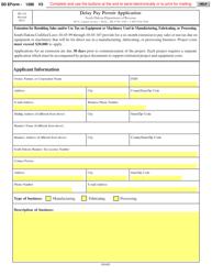 "SD Form 1286 (RV-134) ""Delay Pay Permit Application"" - South Dakota"