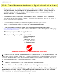 "Form DSS-CC-950 ""Child Care Services Assistance Application"" - South Dakota"