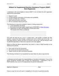 """Form DSS-EA-345 """"Affidavit for Supplemental Nutrition Assistance Program (Snap) Work Registrants"""" - South Dakota"""