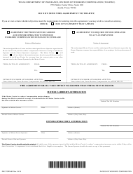 """Form DWC82 """"Agreement for Motor Carriers and Owner Operators"""" - Texas"""