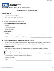 """Form FINT09 """"Escrow Officer Appointment"""" - Texas"""