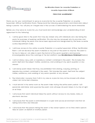 """Form TJJD-CER-300 """"Certification Exam for Juvenile Probation or Juvenile Supervision Officers - Proctor Agreement"""" - Texas"""