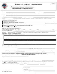 ICJ Form II Requisition for Escapee, Absconder, or Accused Delinquent