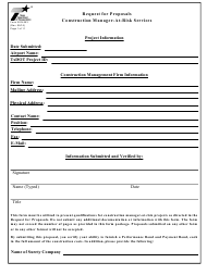 "Form AVN-553 ""Request for Proposals Construction Manager-At-Risk Services"" - Texas"