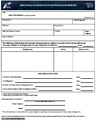 "Form CST-C-1 ""Additional Classification and Wage Rate Request"" - Texas"