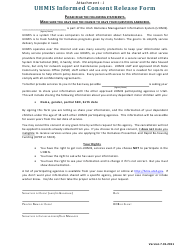 "Attachment J ""Uhmis Informed Consent Release Form"" - Utah"