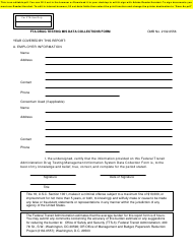 """Fta Drug Testing Mis Data Collections Form"" - Utah"