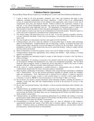 """Volunteer/Intern Agreement Form"" - Virginia"