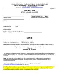 "Form OCRP-71 ""Credit Services Business Registration Form"" - Virginia"