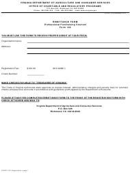 """Form OCRP-103 """"Registration Statement for a Professional Fundraising Counsel"""" - Virginia"""
