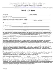 "Form OCRP-24 ""Travel Club Bond"" - Virginia"