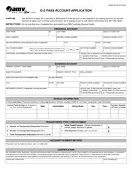 "Form CSMA90 ""E-Z Pass Account Application"" - Virginia"
