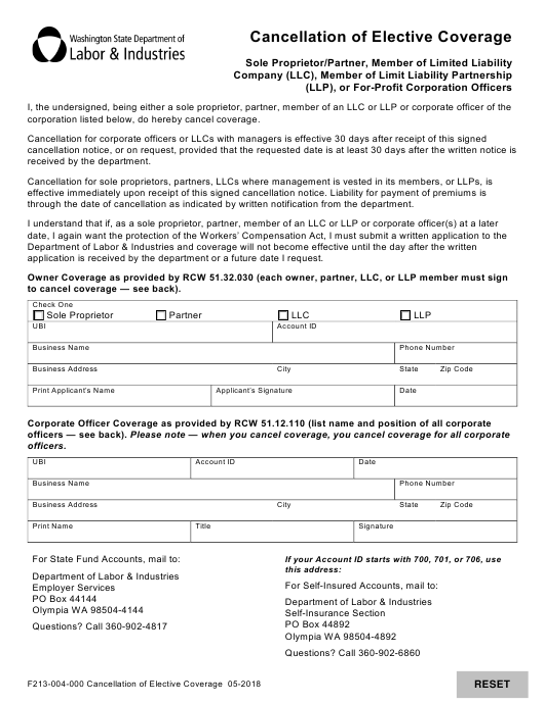 Form F213-004-000  Printable Pdf