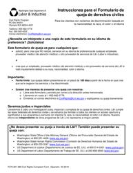 """Formulario F270-001-999 """"Formulario De Queja De Derechos Civiles"""" - Washington (Spanish)"""