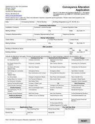 "Form F621-120-000 ""Conveyance Alteration Application"" - Washington"