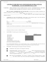 Contract for the Sale and Purchase of Vacant Residential Land