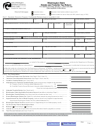 "Form REV85 0050 ""Estate and Transfer Tax Return"" - Washington"