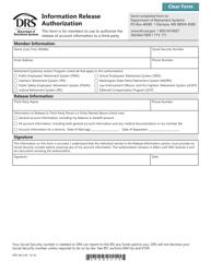 "Form DRS MS249 ""Information Release Authorization"" - Washington"