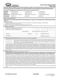 "Form STD FACHTR ""Plan 3 Direct Deposit (Ach)"" - Washington"