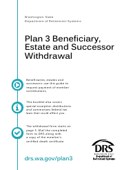 "Form DRS MS439 ""Plan 3 Beneficiary, Estate and Successor Withdrawal"" - Washington"