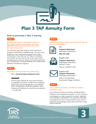 """Form STD FANNPT """"Plan 3 Tap Annuity Payment Form"""" - Washington"""