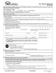 "Form STD FSPSRV ""Plan 3 Member Withdrawal 401(A) Plan"" - Washington"