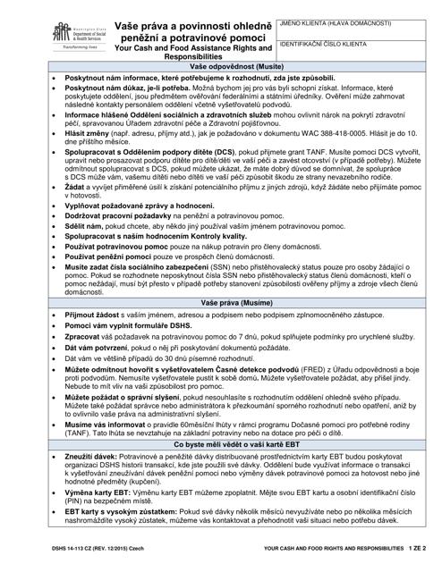 DSHS Form 14-113 Printable Pdf