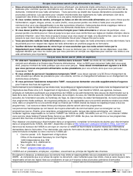 """DSHS Form 14-113 """"Your Cash and Food Assistance Rights and Responsibilities"""" - Washington (French), Page 2"""