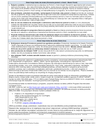 """DSHS Form 14-113 """"Your Cash and Food Assistance Rights and Responsibilities"""" - Washington (Serbo-Croatian), Page 2"""