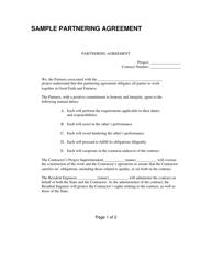 """Partnering Agreement Form"" - Utah"
