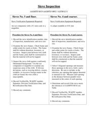 """Sieve Inspection Form"" - Utah"