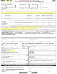 "SD Form 0864 (MV-608) ""Application for Motor Vehicle Title & Registration"" - South Dakota"