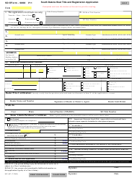 "SD Form 0868 (MV-607) ""Boat Title and Registration Application"" - South Dakota"