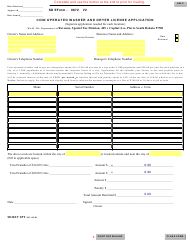 "Form 0872 ""Coin Operated Washer and Dryer License Application"" - South Dakota"
