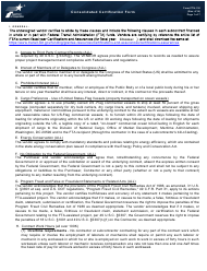 """Form PTN-130 """"Vendor Consolidated Certification Form"""" - Texas"""