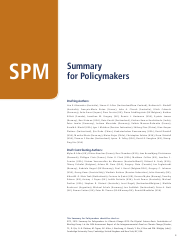 """Summary for Policymakers (Spm) - the United Nations Intergovernmental Panel on Climate Change"""