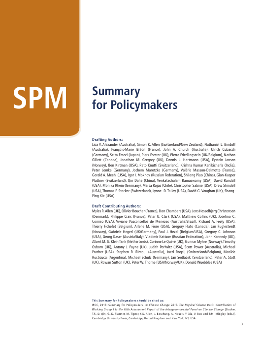 """Summary for Policymakers (Spm) - the United Nations Intergovernmental Panel on Climate Change"" Download Pdf"