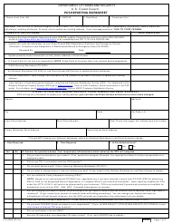 Form CG-2005 PCS Reporting Worksheet