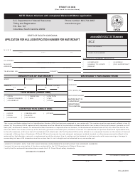 """""""Application for Hull Identification Number for Watercraft"""" - South Carolina"""