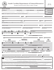 """Form BM-400 """"Request for Boat and/Or Motor Status Change"""" - South Carolina"""