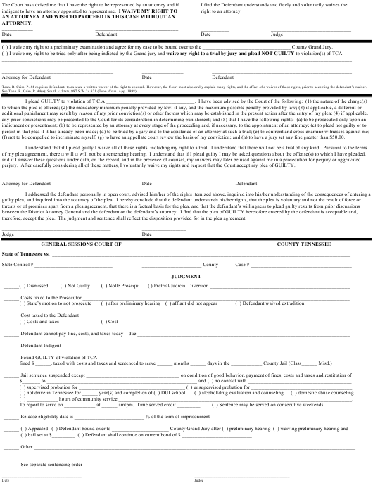 """""""Judgment Sheet - Single Charge - Gs"""" - Tennessee Download Pdf"""