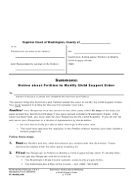 how to respond to child support petition